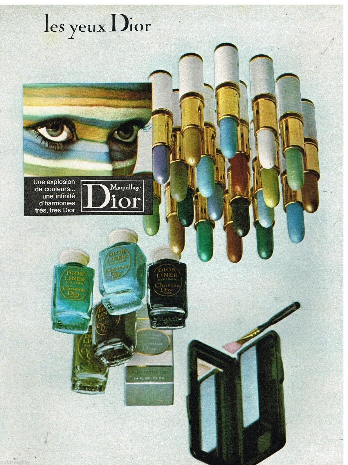 Christian dior maquillage 1970