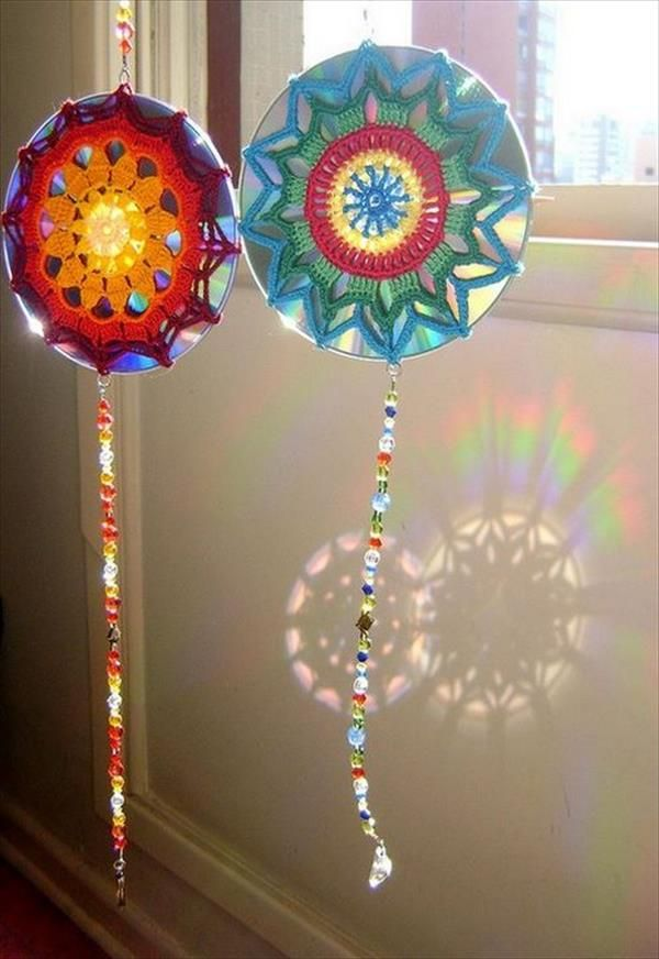 DIY Globes and Lamp Projects with Old CDs | crochet | Pinterest