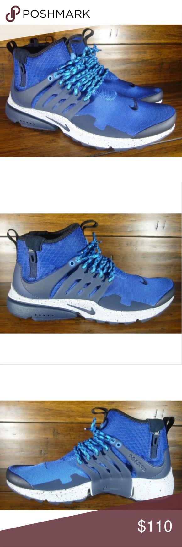 quality design fde14 3b716 Nike Men s Air Presto Mid Utility Gym Blue Grey Nike Air Presto Mid Utility  Gym