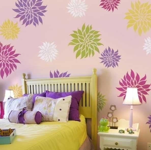 20 Beautiful DIY Interior Decorating Ideas Using Stencils and