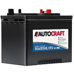 Autocraft Marine Rv 12 Volt Deep Cycle Battery Group Size 24m 550 Cca 24dc 2 Marine Batteries Marinebatteries Autocraft Deep Cycle Battery Rv Marine