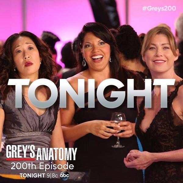 200th episode tonight ! | Grey\'s Anatomy | Pinterest