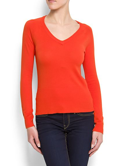 Mango V Neck Sweater. Loved it so much I got it in two colours! :D