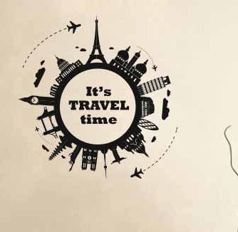 Vinyl Wall Decal Sticker Travel the World Travel Time Skylines, Paris,Newyork, Europe, Mural by DecalStyles on Etsy https://www.etsy.com/listing/386043026/vinyl-wall-decal-sticker-travel-the