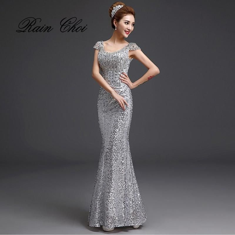 3a58c43085 Elegant Long Mermaid Prom Dresses 2019 Long Evening Dress for Prom Sequins  Prom Gowns