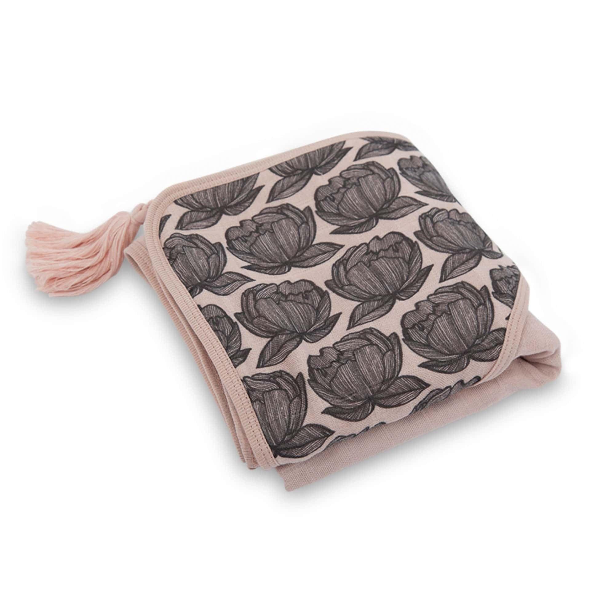 Sybel cappuccio per rosa con Asciugamano Moumout fatto Pivoines di bagno sbiadito il A4Uwtdq0