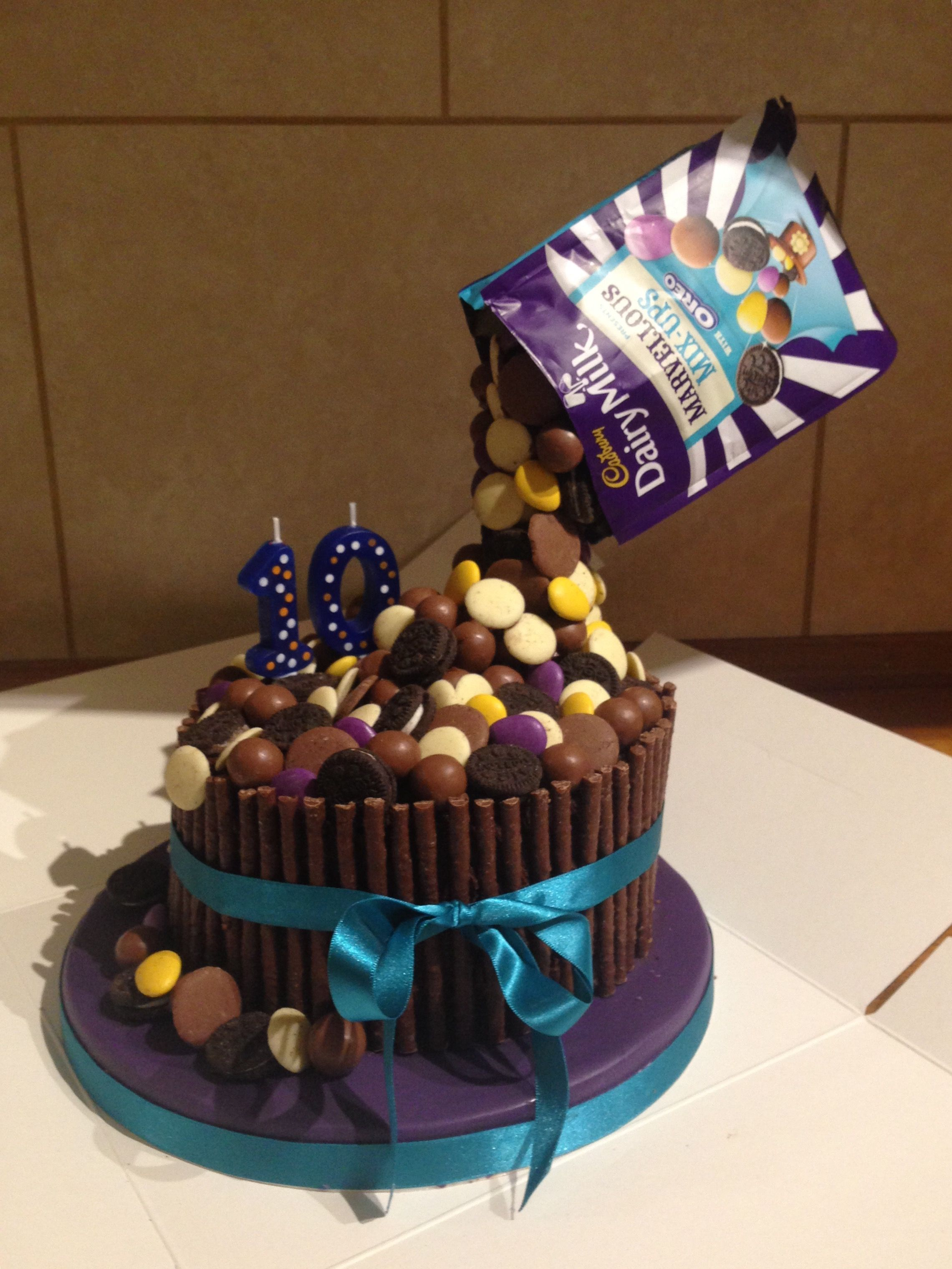 Chocolate anti gravity cake Use Brookside Chocolates Birthday