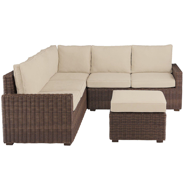 Echo Beach Latte 4 Piece Sectional Sofa