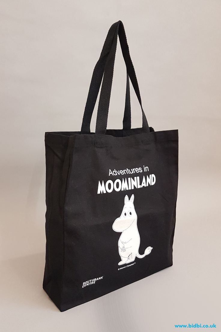 MOOMIN reusable tote shopping bag NATURAL