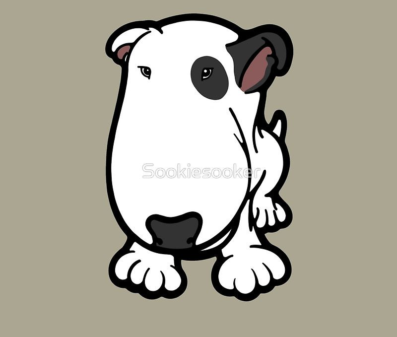White Dog With Black Eye Patch Cartoon   cartoon.ankaperla.com