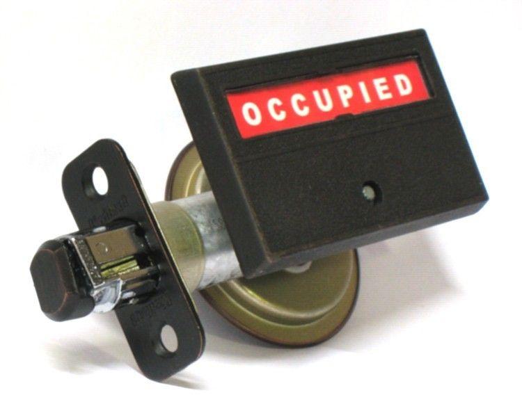 Pocket Door   Barn Door Privacy Indicator Deadbolt Lock Round recessed  thumb turn   rectangular. red   green bathroom indicator   indicator Lock Bathroom   red