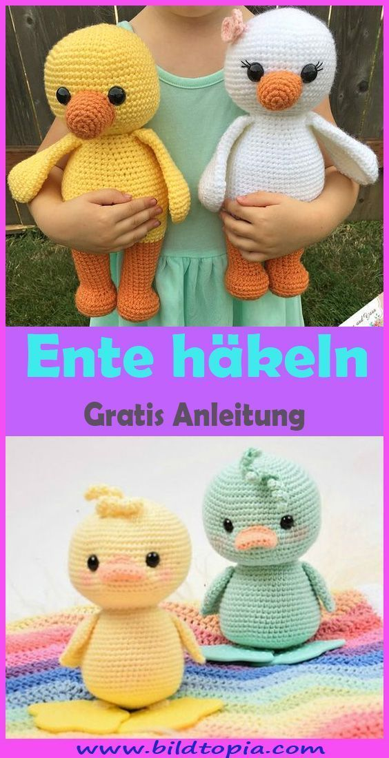 Photo of Häkelanleitung für Amigurumi – Ente   – Häkeln – Anleitungen – #Amigurumi #An…