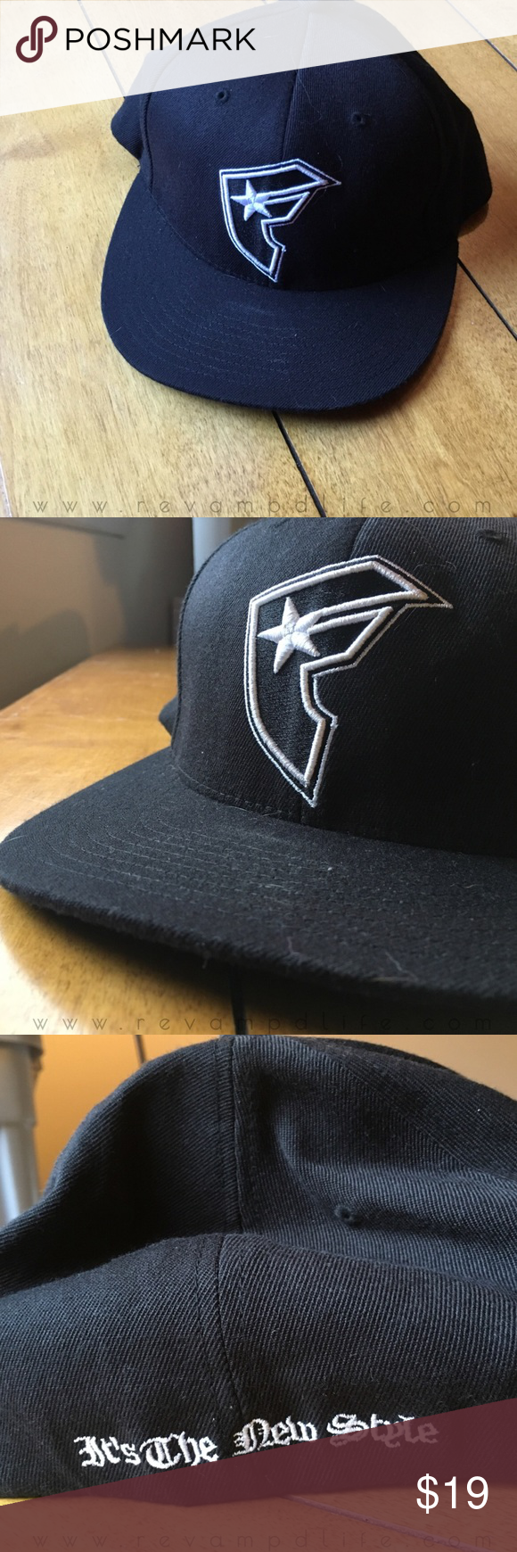 "Like new FAMOUS stars & straps flex fit cap **PURCHASE NOW & HAVE BY CHRISTMAS! GUARANTEED!**  ☠️ LIKE NEW BLACK FITTED STARS & STRAPS FLEXFIT CAP SIZE L-XL • Excellent used condition, never worn • bright black and white, crisp looking  • says ""it's the new style"" on back ------ // bundle to save // accepting all reasonable offers // #famous #starsandstraps #skateboarding #rock  #zumiez #spencers  #hottopic #black #fitted #flatbrim #hat  #cap Famous Stars & Straps Accessories Hats"