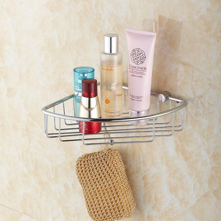 Corner Shower caddy - Rustproof brass Wall Mount Shower Basket for ...