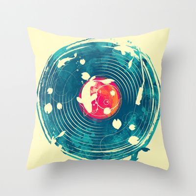 sound of water Throw Pillow by Steven Toang - $20.00