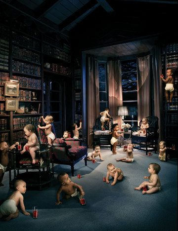 Babies in library....Night Readers!