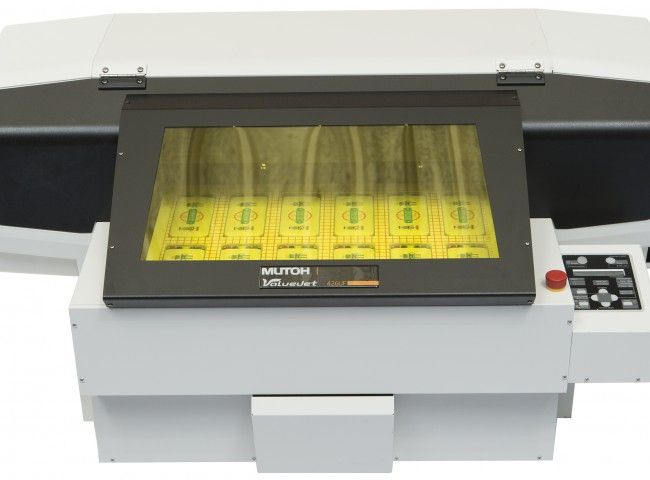 The Mutoh 426 Led Uv Flatbed Printer On The Colourgen