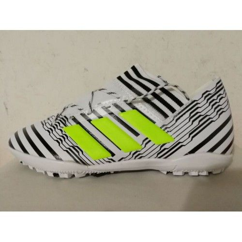 8e42000536d39 Adidas Calcio Scarpe - Scarpe Calcio Adidas Nemeziz 17.3 TF Grigio Verde  Saldi Chuteira Society