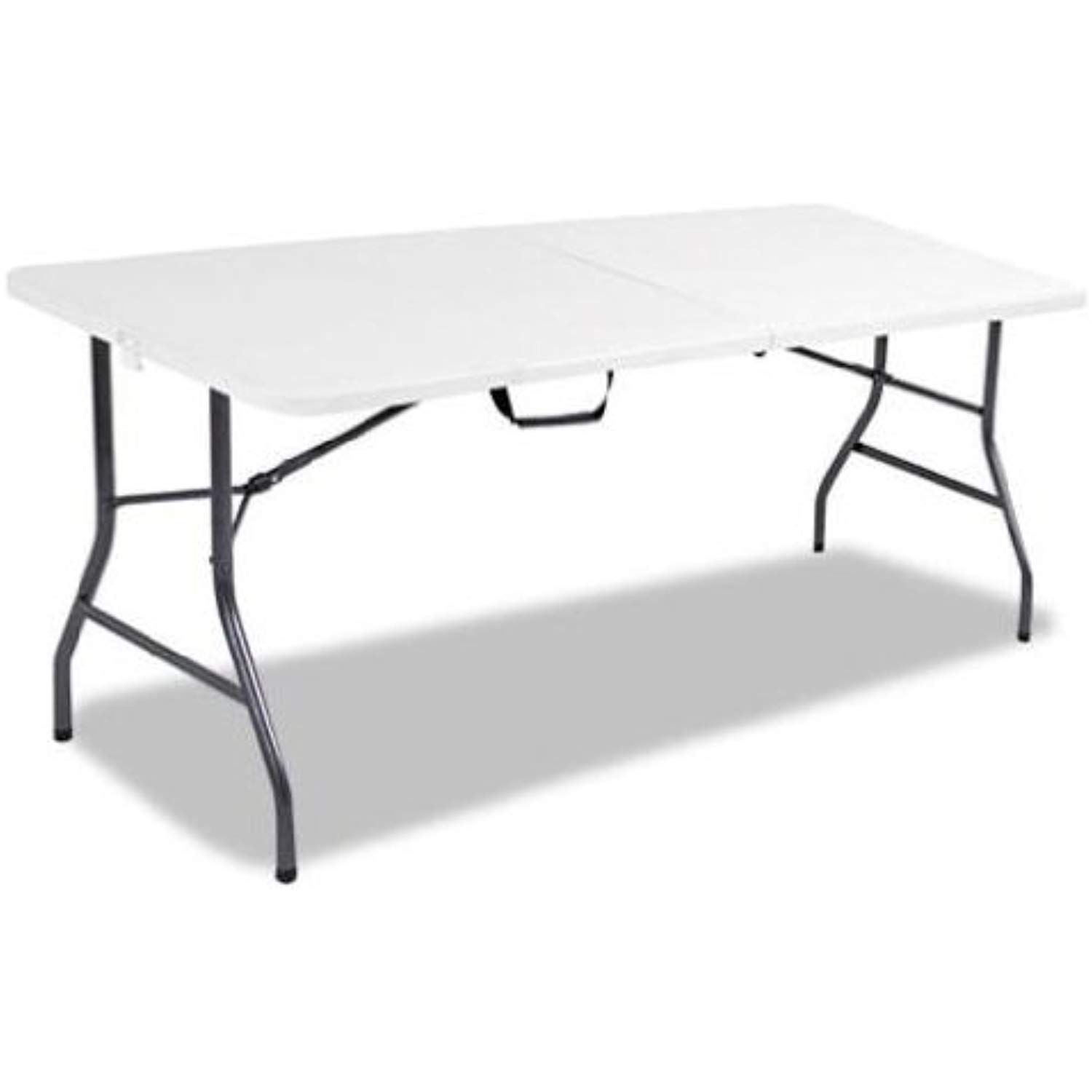 Cosco Products 6 Feet Centerfold Folding Table Color White