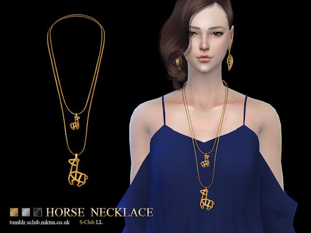 Sims 4 CC's - The Best: Necklace by S-Club