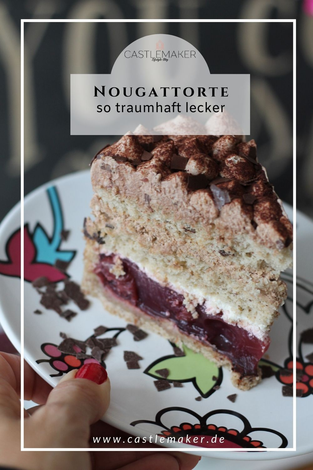 Photo of Nut and nougat cake with cherries «CASTLEMAKER Lifestyle Blog