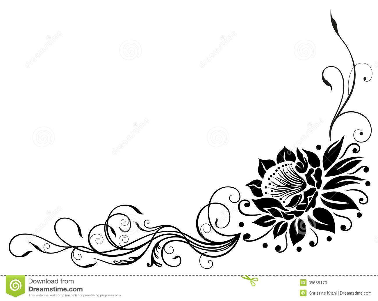 Rose Flower Border Black And White Google Search Rose Flower