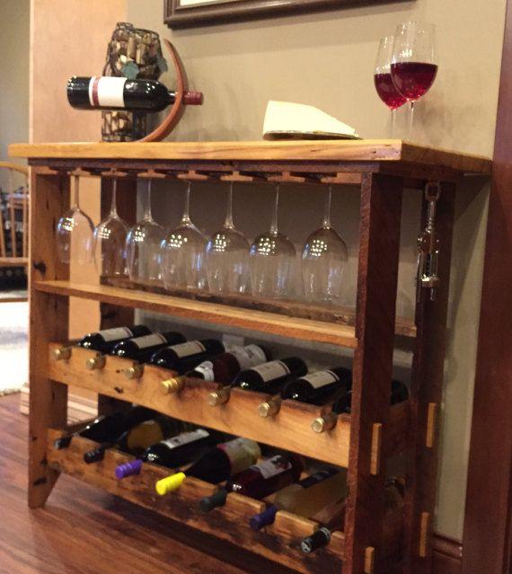 Madera nativa vino estante estante del vino por - Cavas de vinos para casa ...