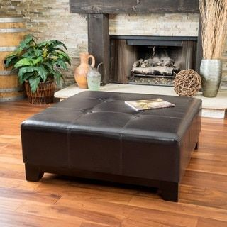 Shop for Darlington Espresso Bonded Leather Ottoman by Christopher Knight Home. Get free shipping at Overstock.com - Your Online Furniture Outlet Store! Get 5�0in rewards with Club O!