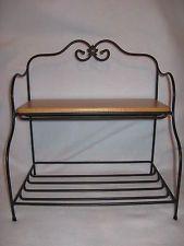 Longaberger Wrought Iron Small Bakers Rack W Woodcrafts Top Shelf