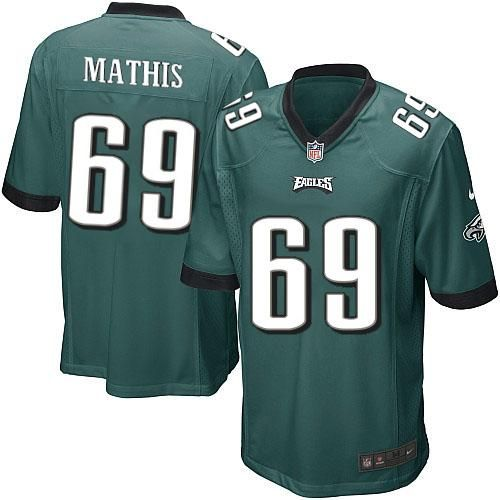 nike nfl philadelphia eagles 69 evan mathis limited youth midnight green team color jersey sale