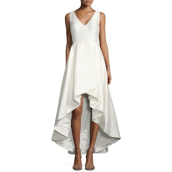 Calvin Klein Wedding Gowns: Calvin Klein Hi-Lo Flared Gown ($299) Liked On Polyvore
