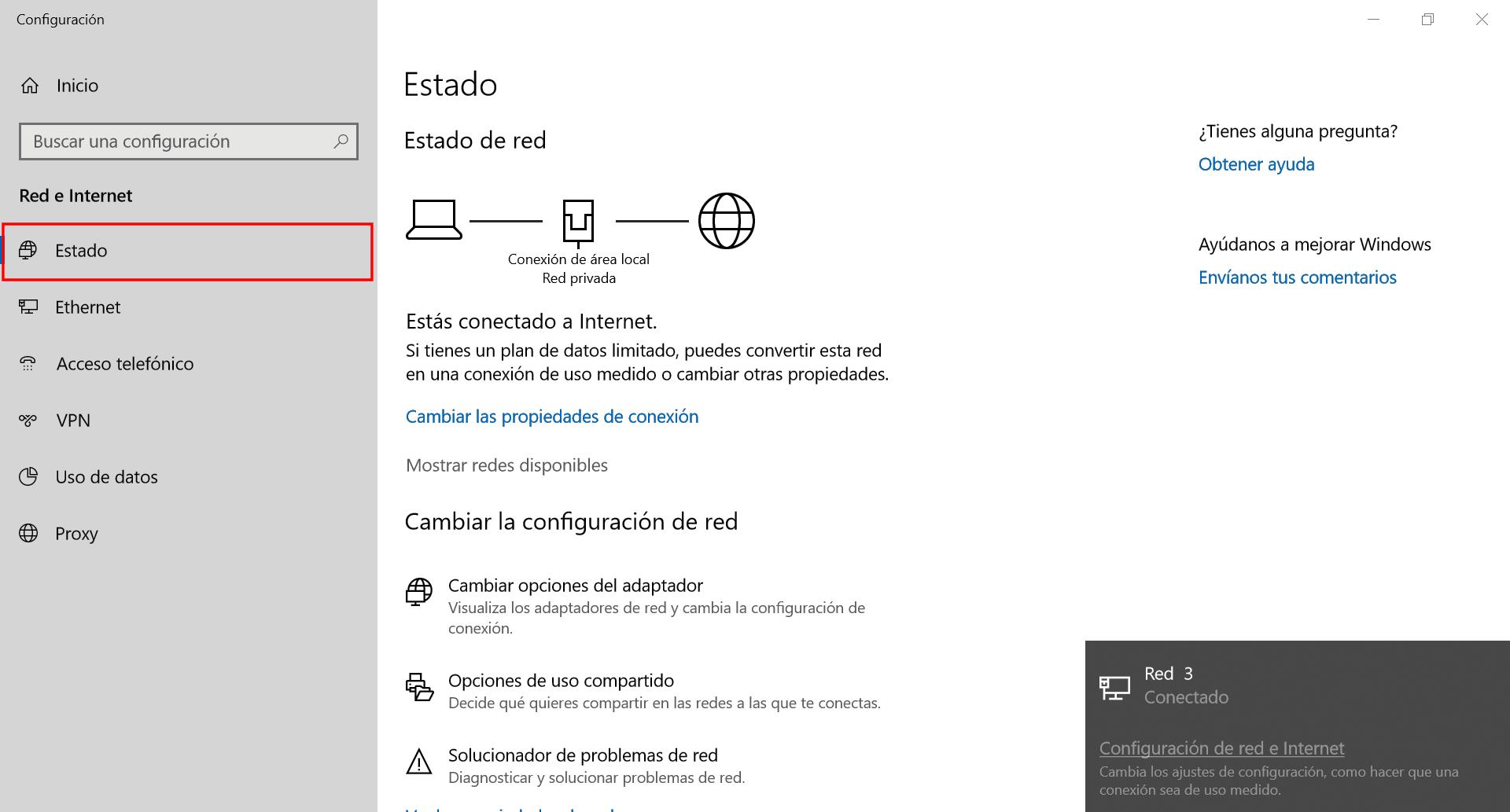 Área local Windows 10