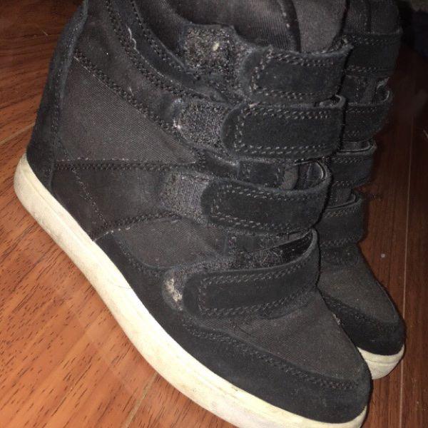 For Sale: Black Velcro Heels for $10