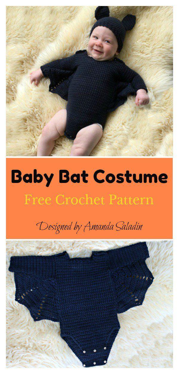 Adorable Baby Bat Set Costume Free Crochet Pattern | Crochet ...