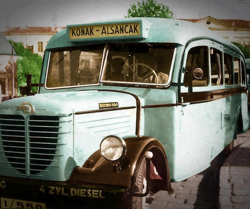 Bir zamanlar Konak - Alsancak otobüsleri...
