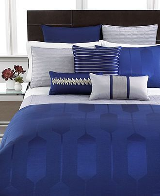 Hotel Collection Links Cobalt Bedding Collection Bedding Collections Bed Bath Macy S Hotel Collection Bedding Blue Bedroom Bedroom Design