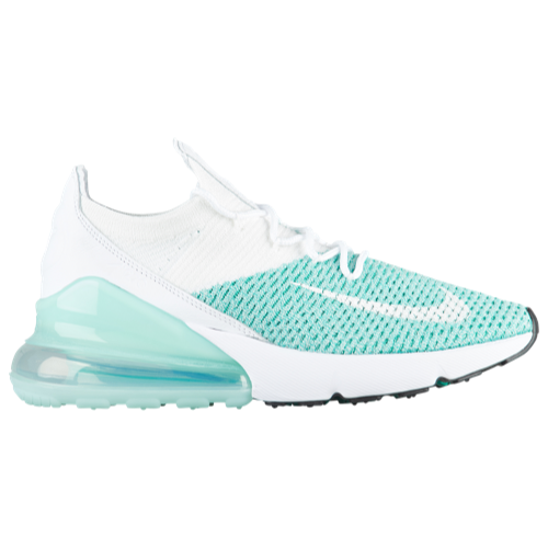 Women s Nike Air Max 270 Flyknit - Igloo White Igloo Clear Emerald Black  H6803301  Nike  AirMax  NikeAirMax  Champs  ChampsCoupons  Training   Fitness ... abc489d8ba