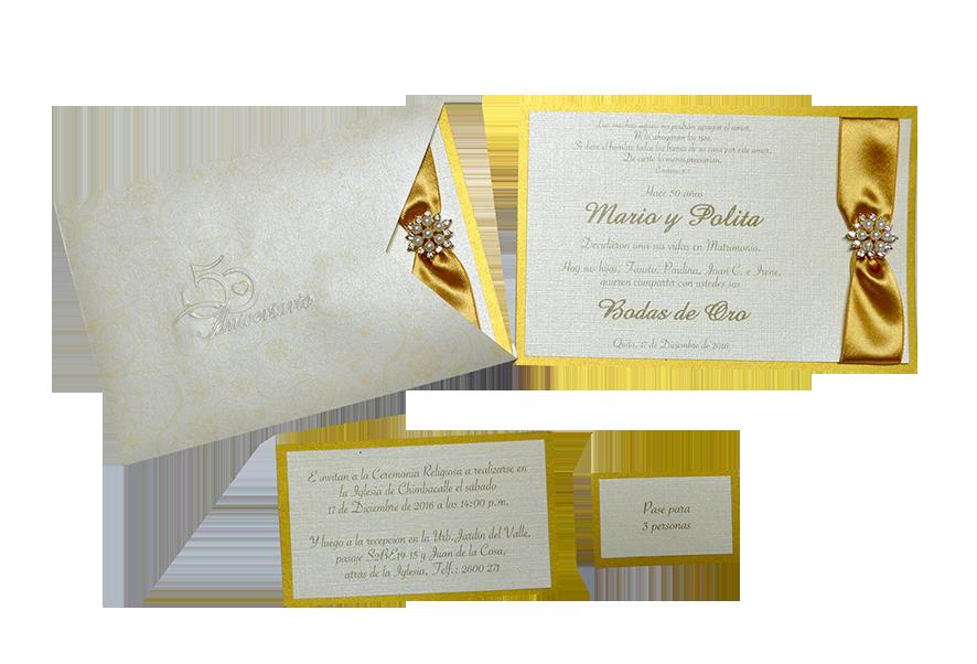 Hermosas Invitaciones Para Bodas De Oro Quito Ecuador