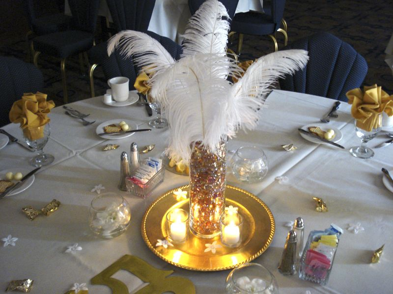 50th anniversary party ideas on a budget 50th wedding for Table decoration 50th birthday
