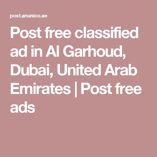 Post Free Classified Ads In Dubai