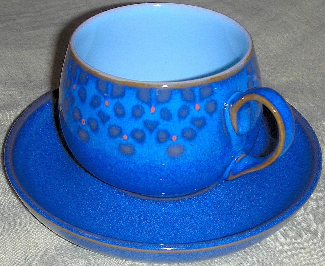 vintage Denby cup and saucer & vintage Denby cup and saucer   blue   Pinterest   Vintage Pottery ...