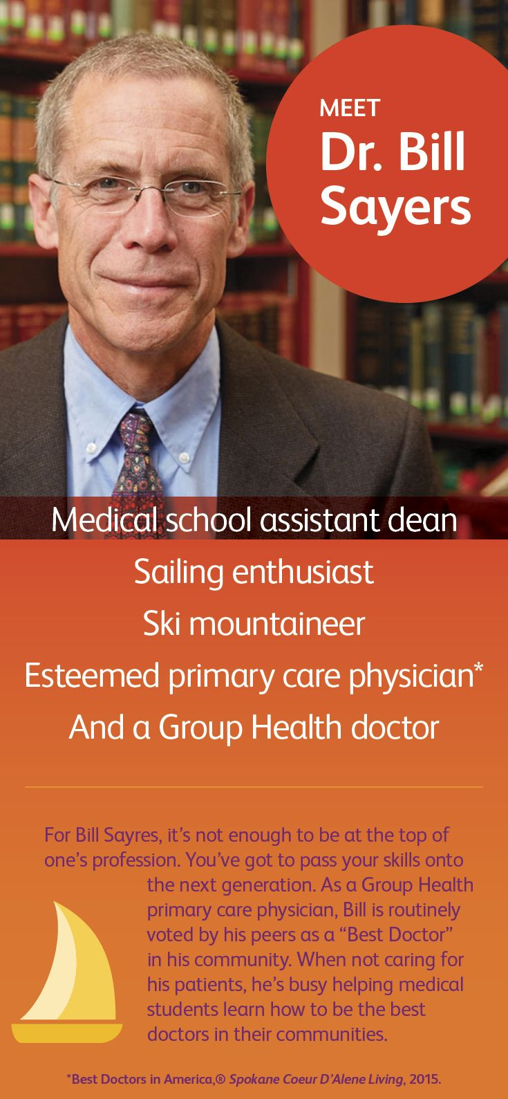 As A Group Health Primary Care Physician Dr Bill Sayers Is