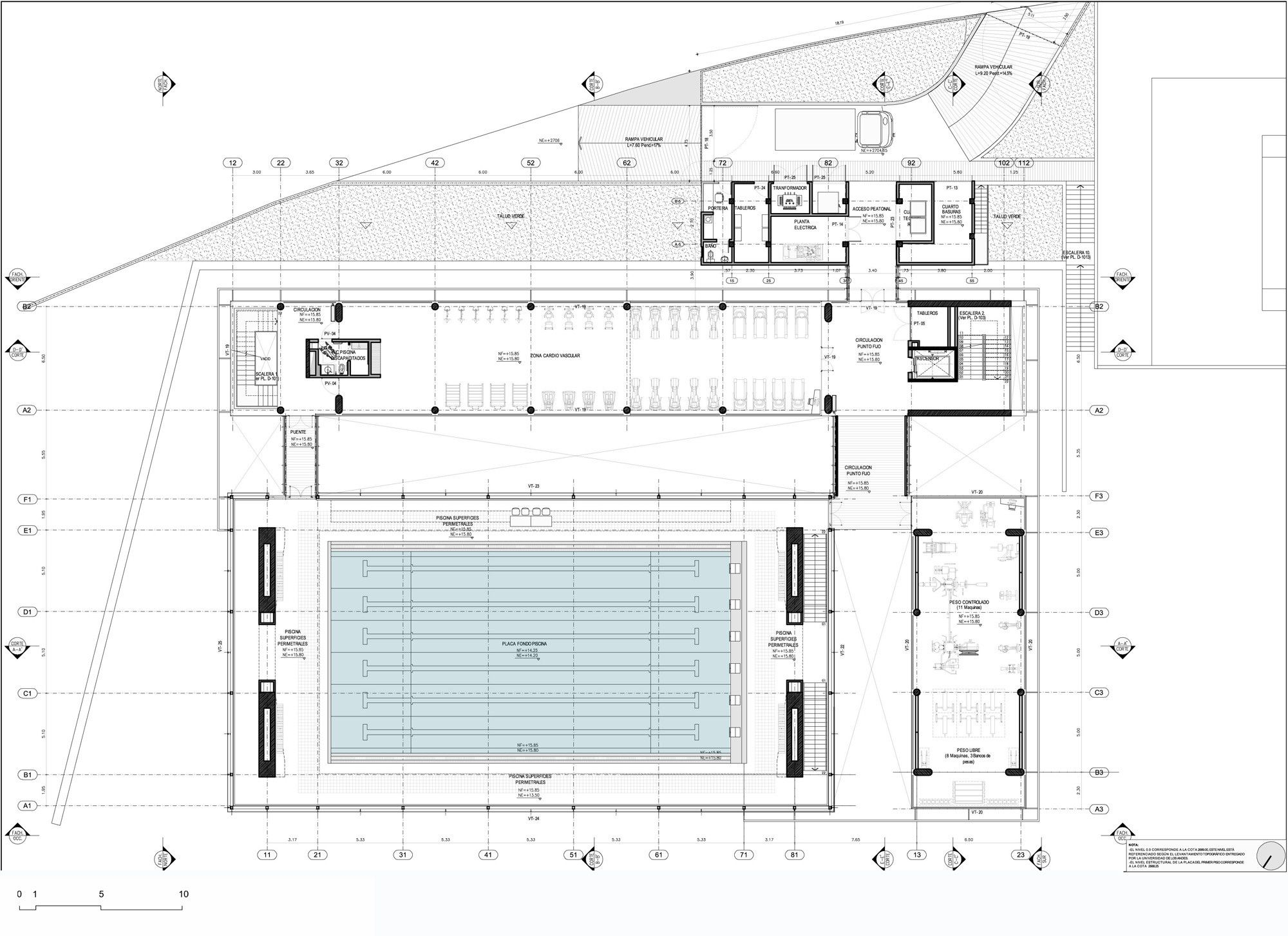 Gallery Of Universidad De Los Andes Sport Facilities Mgp Arquitectura Y Urbanismo 21 Swimming Pool Architecture Swimming Pool Plan Pool Design Plans