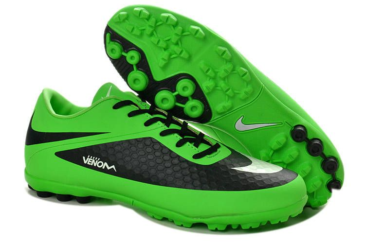 Best Nike Hypervenom Phelon TF ACC Turf Soccer Shoes Sale Lime Green Black  White