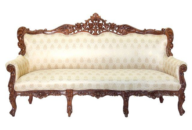 Exceptional Anglo Carved Sofa With