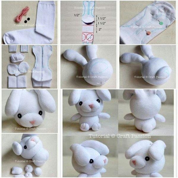 Top Sok knuffel maken | Hobby - Sock bunny, Sock dolls en Sewing toys @CI51