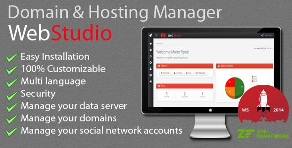 Web Studio - Domain & Hosting Manager . WebStudio – Domain & Hosting Manager is designed for web agencies and freelancers, to manage and maintain it quick and simple on Domains, Hosting and Server. In WebStudio – Domain & Hosting Manager, you can manage (add, edit, delete) your domain with its relevant