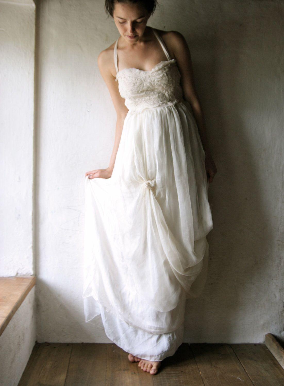 Wedding dress boho wedding dress bohemian wedding dress beach