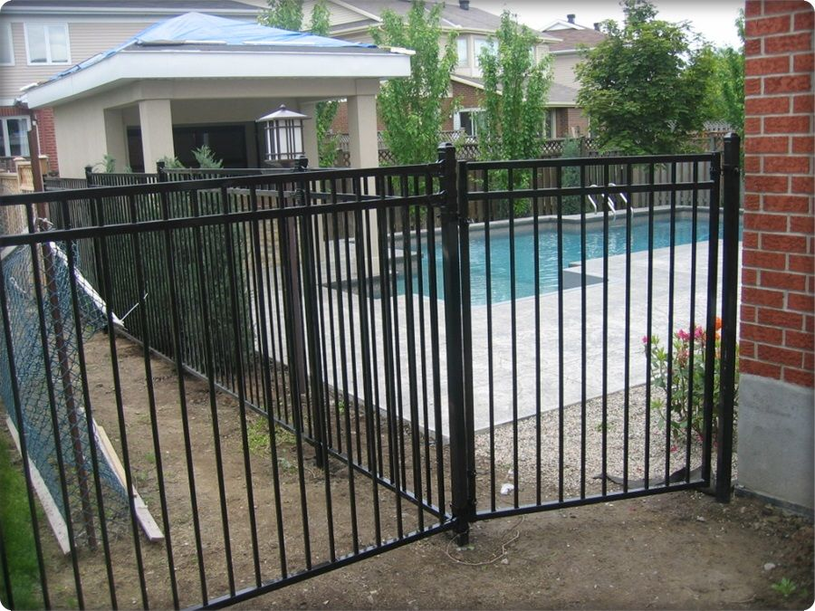 Wrought Iron Fence Stanton Gate Black Amco Fencing And Decks