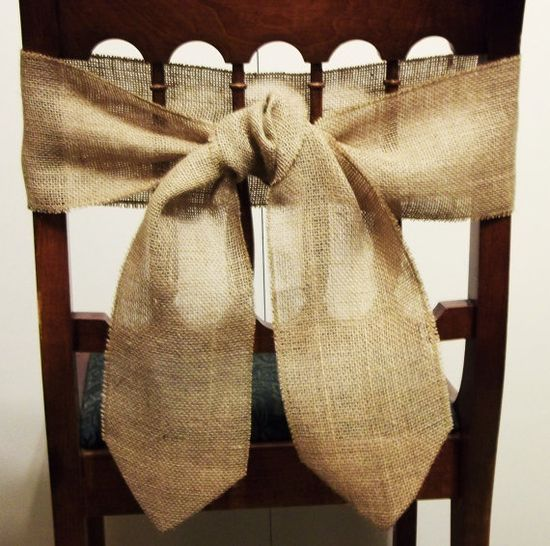 burlap for the chairs